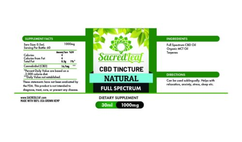 Full Spectrum Tincture Natural 1000mg