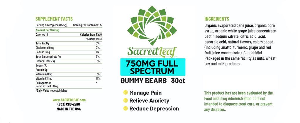 Full spectrum gummy bears