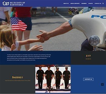new website design for non-profit Bluecoats of Barnstable