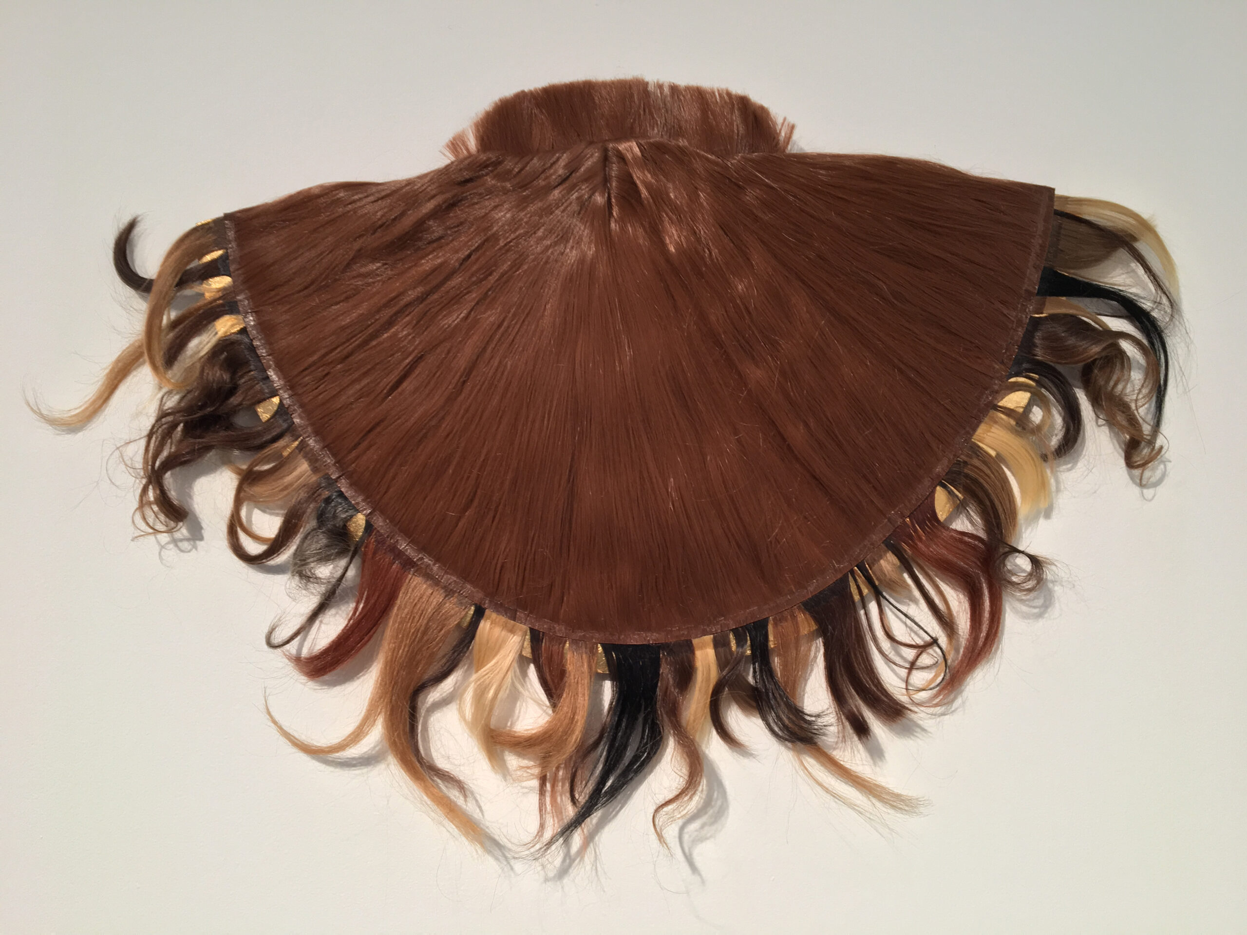 Procession (2016) Altered wig and 47 locks of human hair