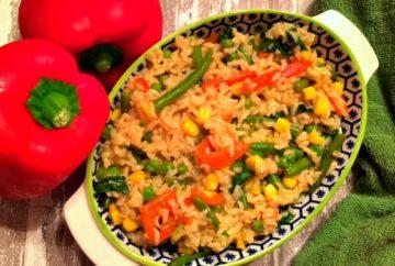 baked rice salad