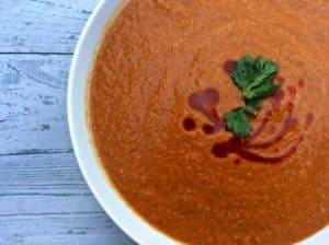 Roasted Red Pepper Mushroom Soup