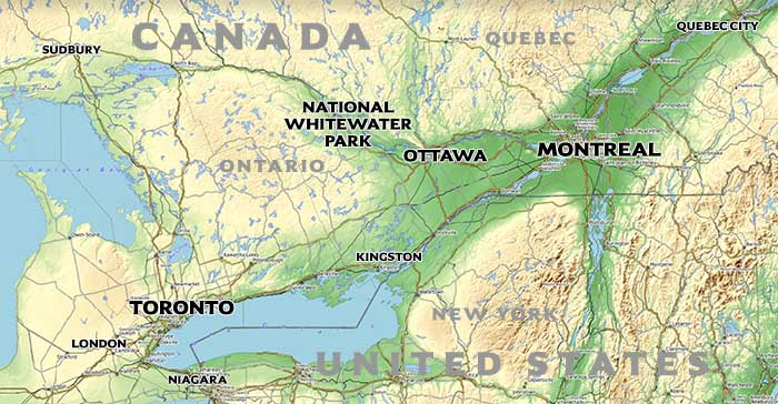 NWP Location Canada Map