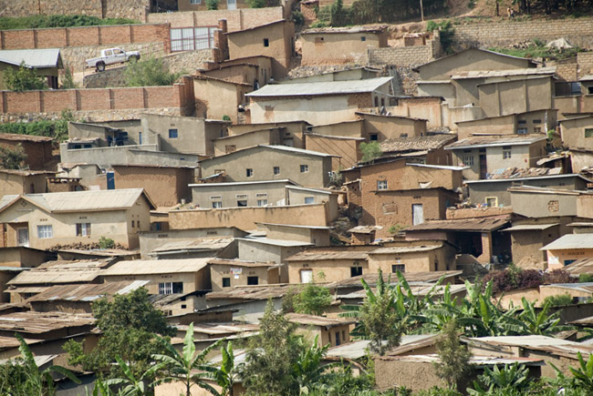 Slum area in Kigali. 09-26-07