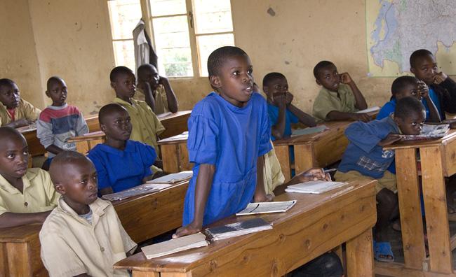 Naomie standing in class. 10-01-07