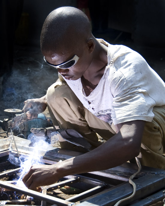 Member of youth welding cooperative