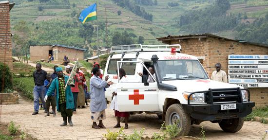Ambulance and Butaro hospital, Rwanda