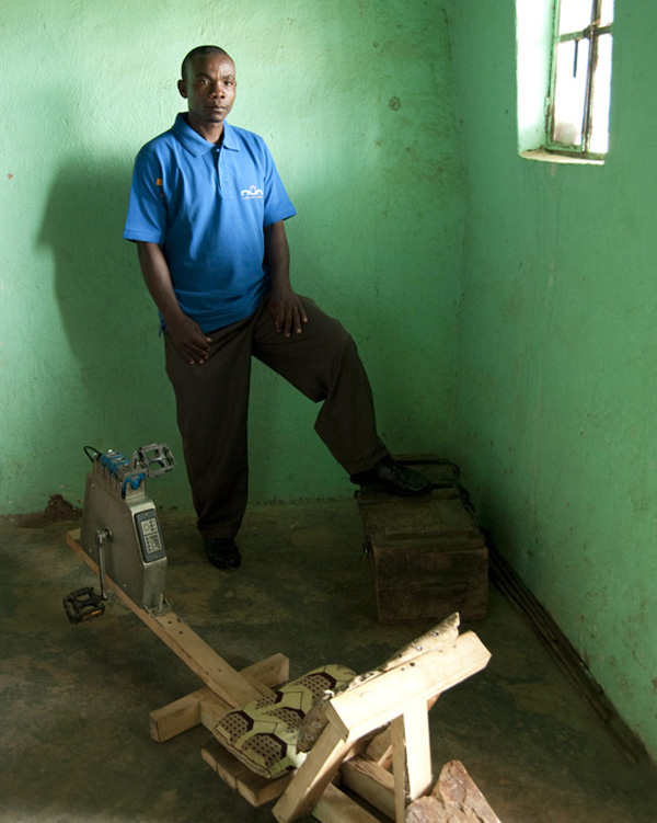Formerly unemployed, Innocent is now an entrepreneur bringing sustainable light to his fellow villagers in Rwanda.