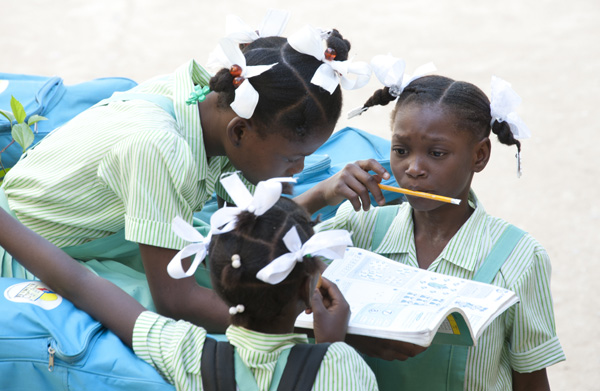 School Children in Lory, Haiti.