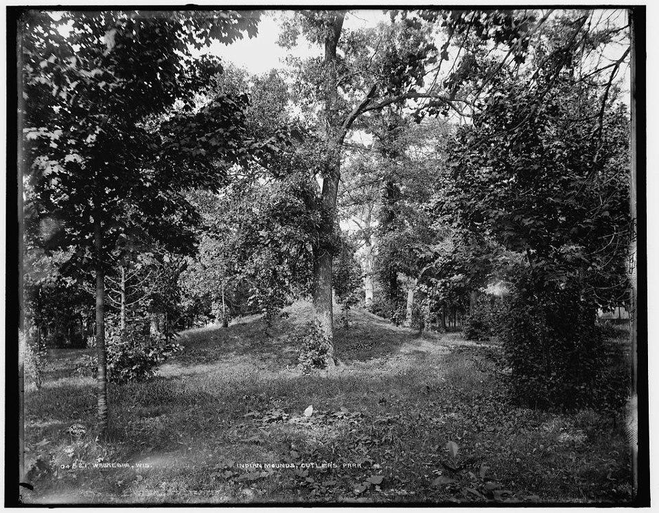 Indian mound in Cutler park