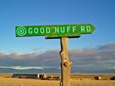 good enough road sign