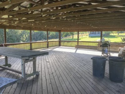 Large pavilion for rent will seat 100 people and located between Columbia and Centerville