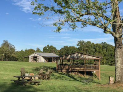 Mobley Ridge Road pavilion with fire pit and event venue near Nashville Tennessee 2