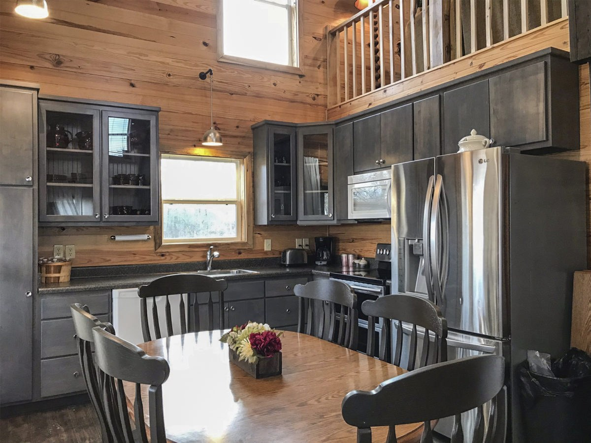 The Airbnb Guest House Kitchen at Apple Ridge Farm