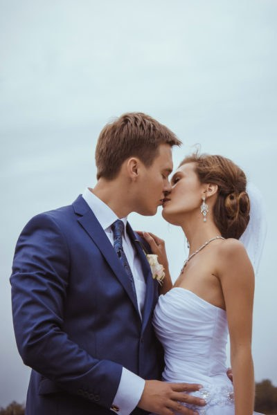 The kiss photo everyone loved at our farm near Williamsport