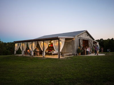 The wedding barn at Apple Ridge Farm located 40 minutes from Franklin Tennessee