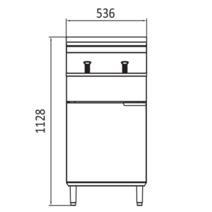 Commercial cookrite fryer height
