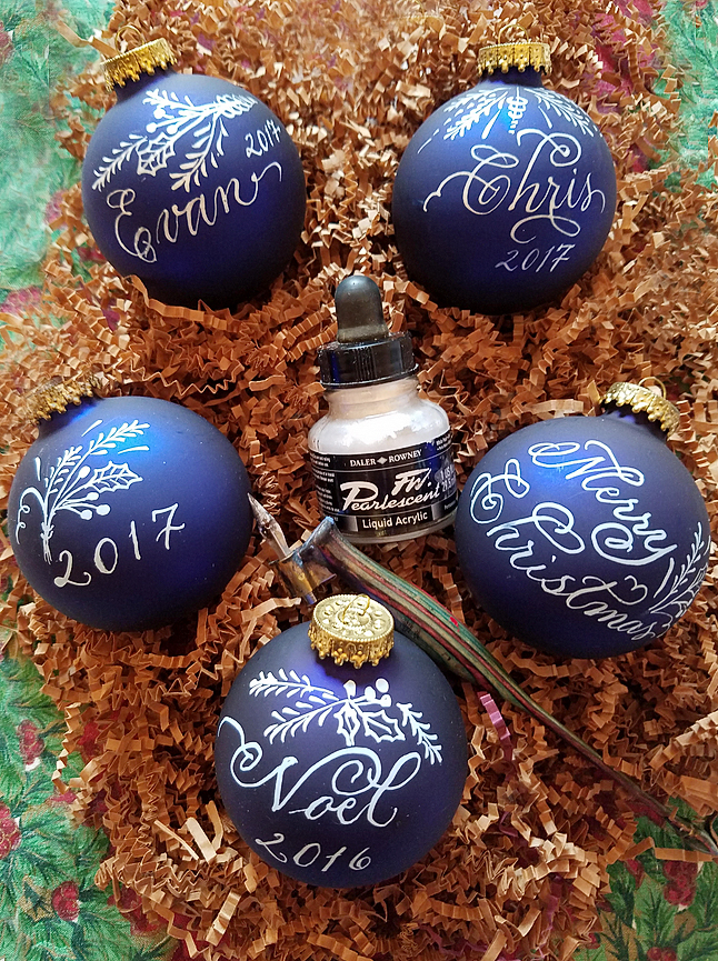 Inscribed Christmas Ornaments