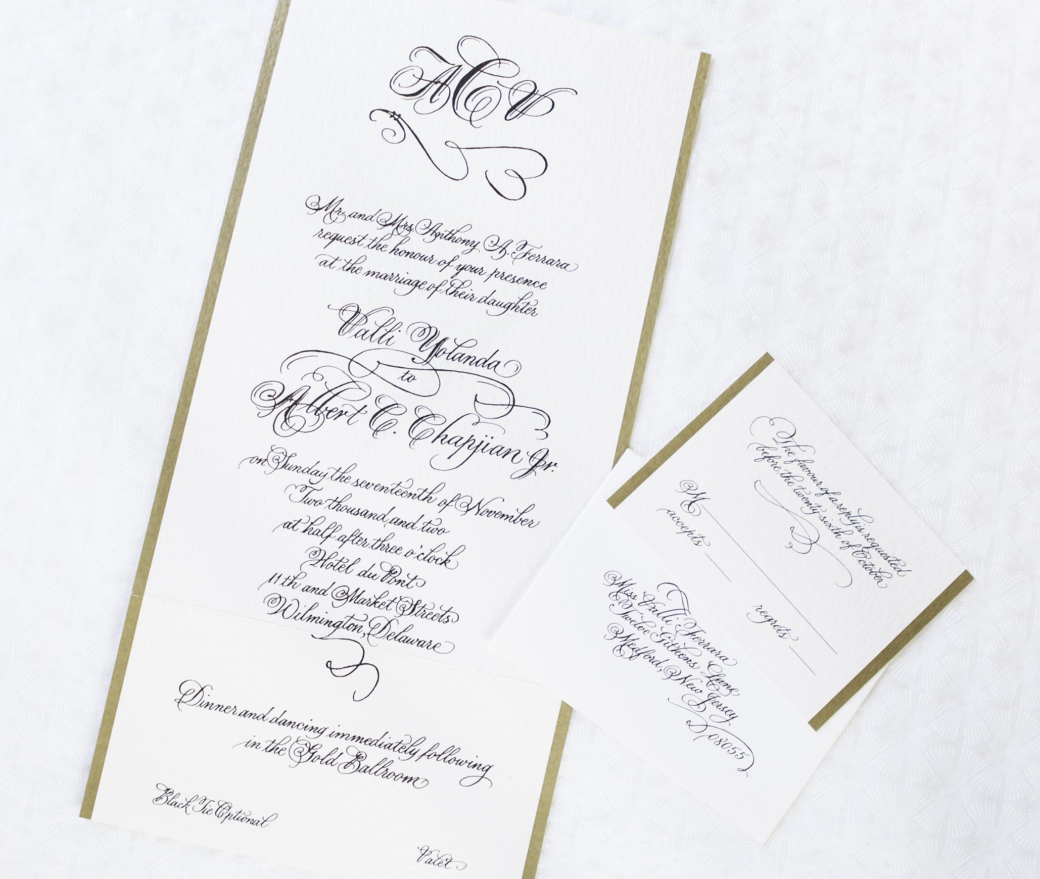 Custom Designed Invitation Suite