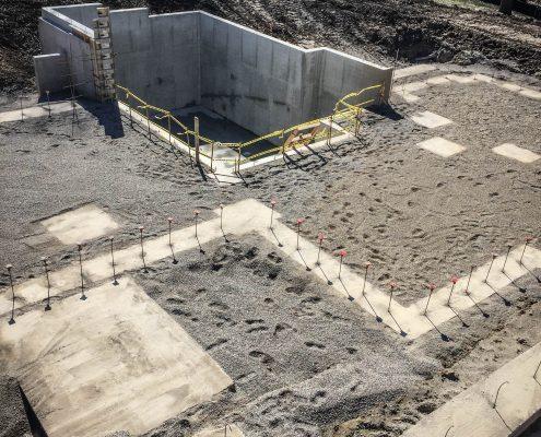 custom home foundation footings