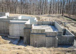 Custom home foundation