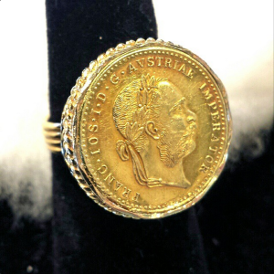 Custom Antique Austrian Coin Ring