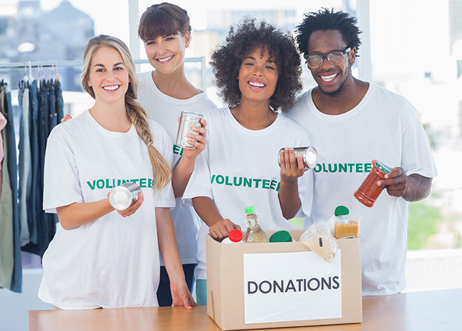 Volunteer Taking Out Foods
