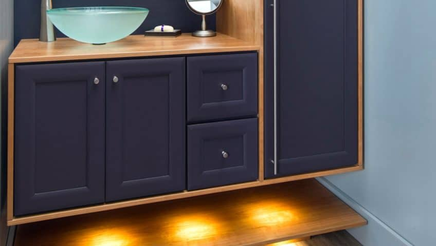 Floating Your Vanity - Welborn Cabinets