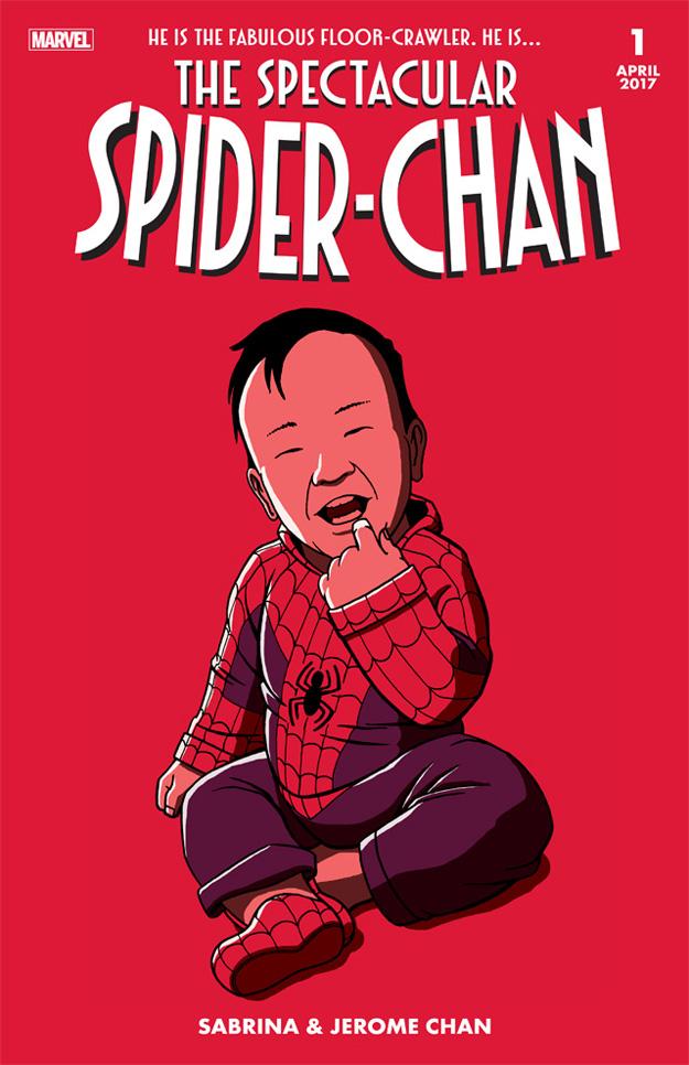SpiderChan fake comic cover