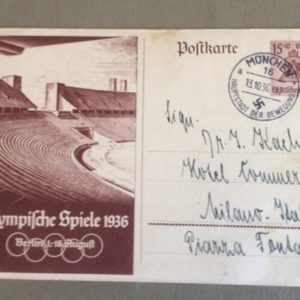 1936 Olympic Postcard front 1