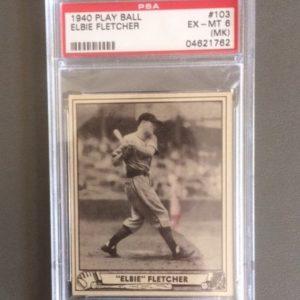 1940 Play Ball Baseball Card EX-MT Elbie Fletcher