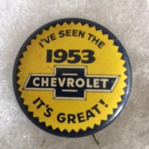 1953 Chevrolet Automobile pinback