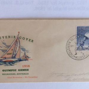 1956 Olympics in Melbourne Australia Cover