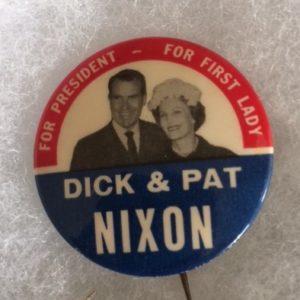1960 Dick and Pat Nixon pinback