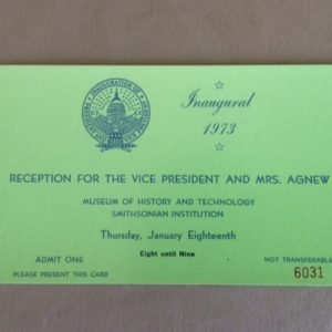 1973 Inauguration Reception for Mr & Mrs Agnew Green