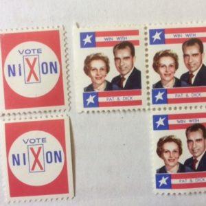 5 Nixon Campaign stamps
