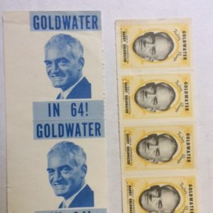 6 Goldwater Campaign Stamps 1964