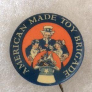 American Toy Brigade Uncle Sam Pinback circa 1920