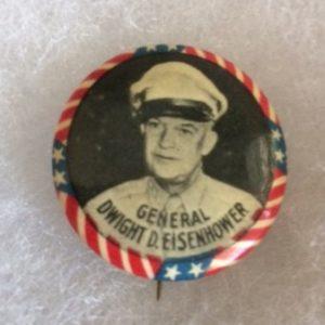 Gen Dwight Eisenhower WW II Pinback