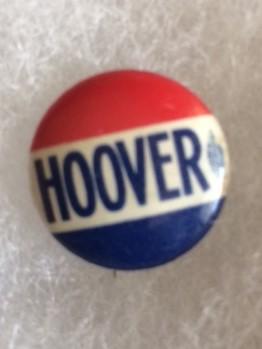 Hoover for President 1932 name pinback