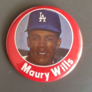 Large Maury Wills Los Angeles Dodgers Pinback