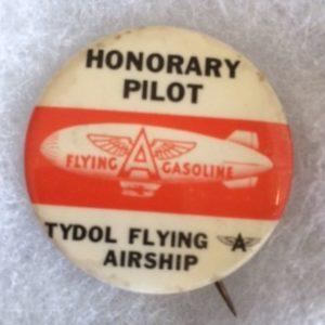 Tydol Flying Airship Pinback