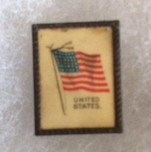US Flag Square Easel Back 1905