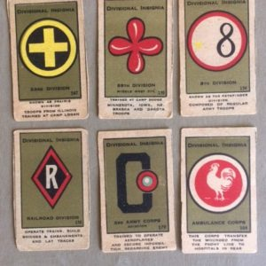 WW I Strip Cards US Insignia Group 3