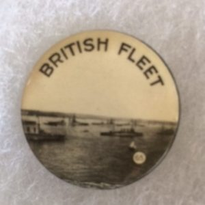 World War I British Fleet Pinback