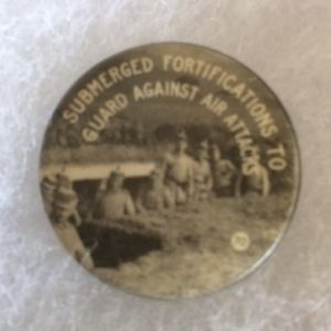 World War I German Forces in Trenches Pinback