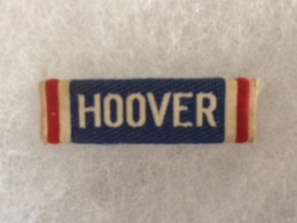 Hoover for President Cloth Pin 1932