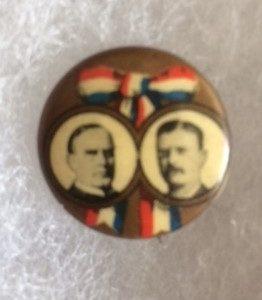 McKinley TR ribbon pinback