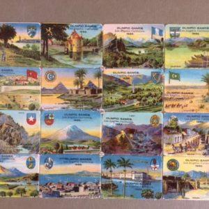 1932 Los Angeles Olympics Die cut stamps
