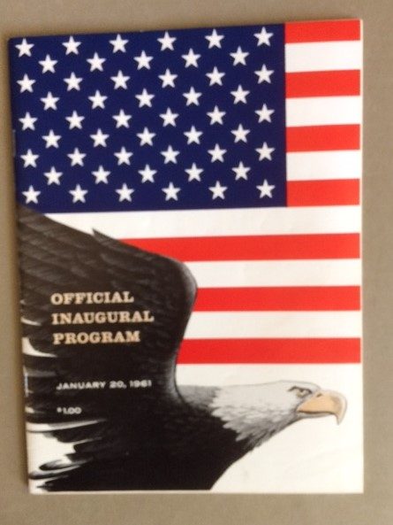 1961 JFK inaugural program